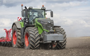 Picture wallpaper, tractor, agriculture, farming, fendt