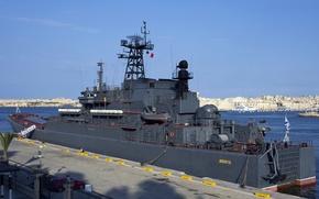 Picture ship, large, Malta, landing, BDK, Minsk