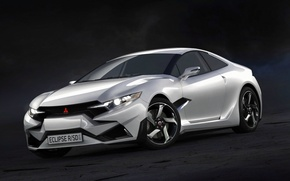 Picture Mitsubishi, White, Renovated, Eclipse R-SD