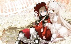 Picture doll, doll, sisters, rozen maiden, vintage, enemies, tavern, Virgin rose, kirkie