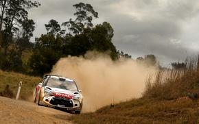 Picture Dust, Citroen, Background, Citroen, DS3, WRC, Rally, Rally, Meeke