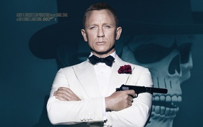 Picture hat, 007: RANGE, SPECTRE, background, James Bond, Daniel Craig, skull, James Bond, Daniel Craig, 007, ...