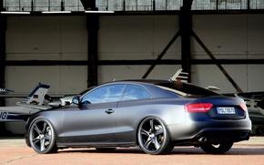 Picture car, Audi, black, coupe, matte