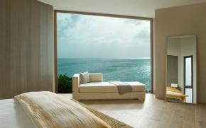 Picture design, style, the ocean, Villa, interior, bedroom