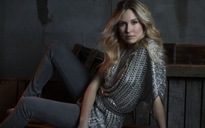 Picture blonde, actress, Sarah Carter