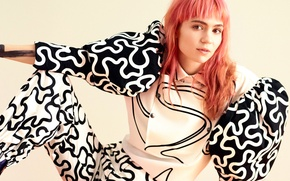 Picture photoshoot, Teen Vogue, 2016, Grimes