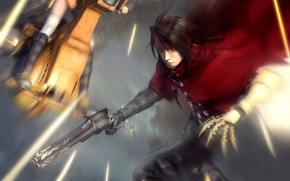 Picture weapons, background, art, guy, Final Fantasy, red eyes, Vincent, Vinsent