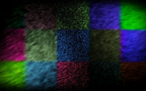 Picture wool, fur, colorful, square