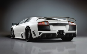 Wallpaper auto, white, Lamborghini