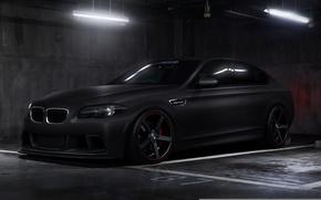 Picture car, tuning, BMW, black, tuning, bmw m5, rechange, matte