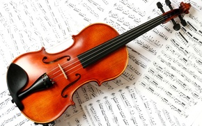 Picture notes, violin, classic