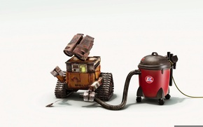 Picture wall-e, vacuume, cockroach