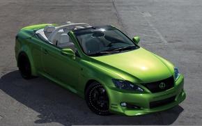 Picture Lexus, green, convertible