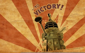 Wallpaper machine, victory, tank, gun, doctor who, vantus, dalik