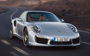 Picture road, 911, Porsche, Porsche, the front, Turbo, Turbo