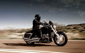 Picture speed, motorcycle, Bike, helmet, biker