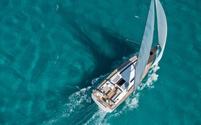 Picture sea, the way, the wind, yacht, wide, boat, sail
