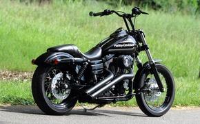 Picture BLACK, Harley-Davidson, CHOPPER, BIKE, HARLEY-DAVIDSON