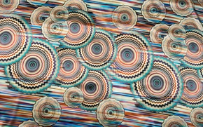 Picture smoothness, movement, textiles, line, color, circles, pattern, silk, Shine, fabric