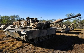 Picture weapons, tanks, Abrams