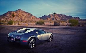 Picture mountains, hills, Bugatti, Veyron
