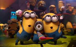 Wallpaper ice cream, Despicable Me 2, holiday, Minions, Minions, Despicable Me 2