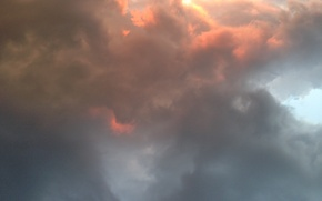 Picture The sun, The sky, Clouds, Clouds
