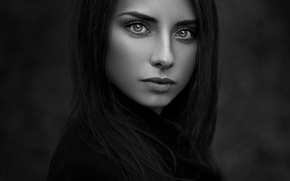 Picture girl, portrait, b/W photo, Natalie