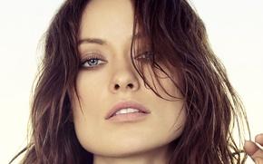 Picture look, face, model, portrait, makeup, actress, Olivia Wilde, Olivia Wilde, Maciej