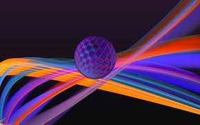 Picture light, line, color, ball, bending