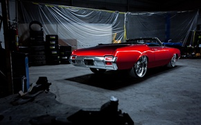 Picture red, Cutlass, Olds mobile