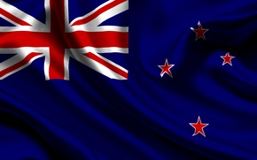 Picture Kingdom of New Zealand, Flag, Texture, New Zealand, New Zealand, Blue, Flag, Stars, Kingdom New …