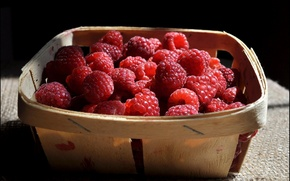 Picture garden, cottage, berries, delicious, still life, raspberry, food, summer
