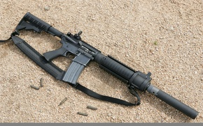 Wallpaper machine, bullets, counter-strike, the ground, M4A1