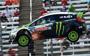 Picture Ford, Auto, Machine, Speed, People, Ford, Ken Block, Rally, Fiesta, Fiesta, rallycross, Side view, Tribune, …