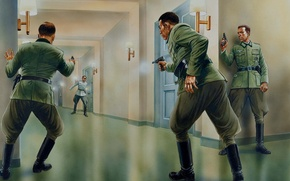 Wallpaper shootout, Germany, The second world war, conspiracy, 1944., figure, The Wehrmacht, officers