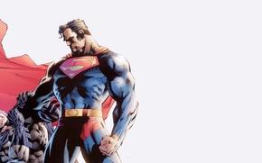 Picture fantasy, Batman, minimalism, Marvel, fight, comics, Superman, superhero, costume, cape, Superman vs Batman