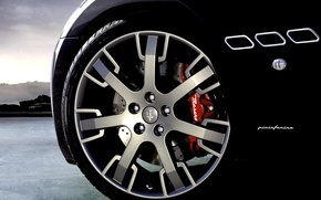 Wallpaper Maserati, Black, wheel, Maserati