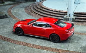 Picture red, muscle car, Chevrolet Camaro, Camaro, Z28