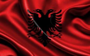 Picture flag, Albania, albania