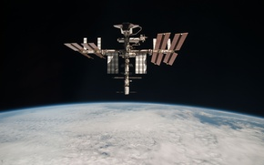 Picture space, satellite, ISS, docking, space Shuttle