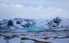 Picture the sky, snow, landscape, mountains, glacier