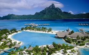 Picture the ocean, the hotel, Bungalow, Bora Bora