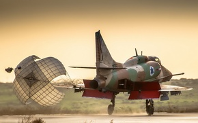 Wallpaper A-4 Skyhawk, the plane, background