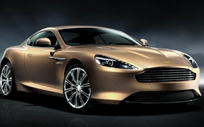 Picture auto, Aston Martin, light korichnevy