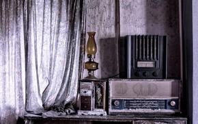 Picture radio, lamp, receiver