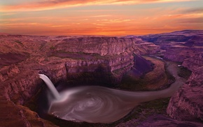 Picture waterfall, River, whirlpool