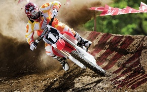 Picture earth, race, sport, turn, motorcycle, race, motocross, racer