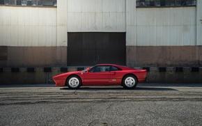 Picture red, Ferrari, Red, sports car, sportcar, GTO, classic, urban, 288