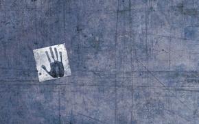 Wallpaper scratches, hand, imprint
